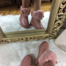 Cizme dama roz imblanite