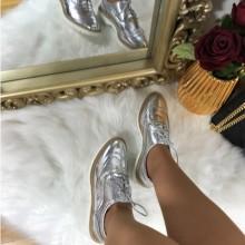 Pantofi dama argintii