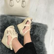 Sandale dama bej cu platforma S92
