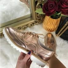 Pantofi dama roz auriu