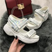 Sandale dama albe cu platforma S81