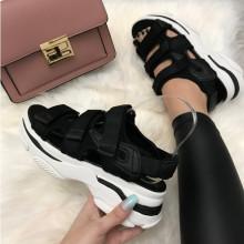 Sandale dama negre cu platforma S219