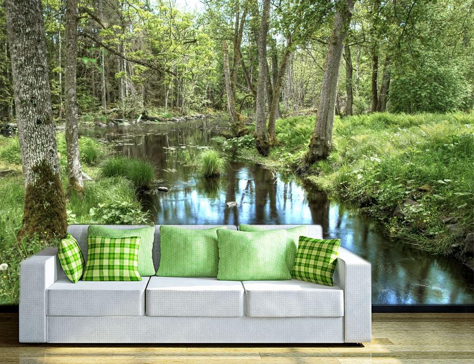 foto tapeta reka u zelenoj umi tapet017. Black Bedroom Furniture Sets. Home Design Ideas