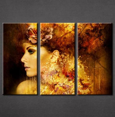 Slika na platnu Devojka i cvet u kosi 3014_ 3