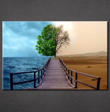 Slika na platnu Most i drvo Nina3067_P