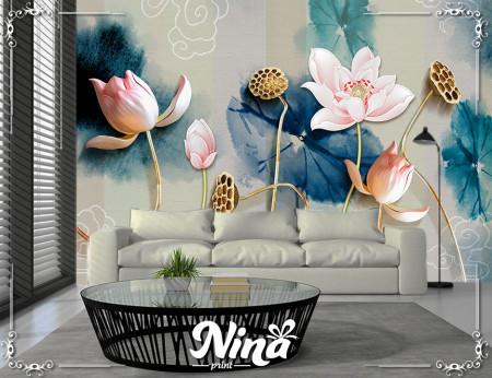 Foto tapet Elegantno cveće 3d Tapet297