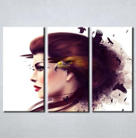 Slika na platnu Devojka i orao Nina3066_3