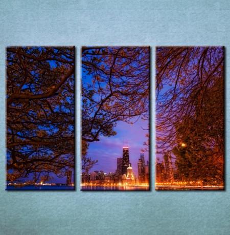 Slika na platnu Grad nocu 3003 _3