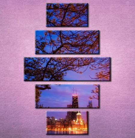 Slika na platnu Grad noću 3003 _5