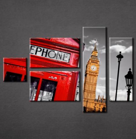 Slika na platnu London govornica Nina3007_5