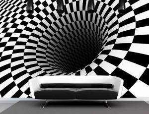 Foto tapeta Crno beli lavirint Tapet111