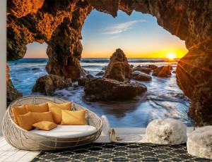 Foto tapeta Zalazak sunca i more Tapet045