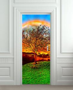 Nalepnica za vrata Drvo 6179