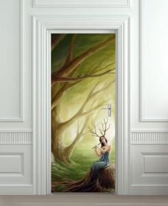 Nalepnica za vrata Fantazija 6042