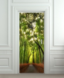 Nalepnica za vrata Šuma bambusa 6107