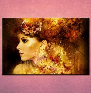 Slika na platnu Devojka i cvet u kosi_ P