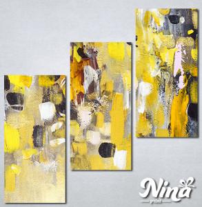 Slike na platnu Apstrakcija žuto Nina306_3