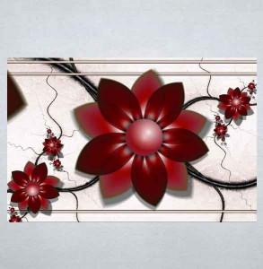 Slike na platnu Apstraktni bordo cvet Nina198_P
