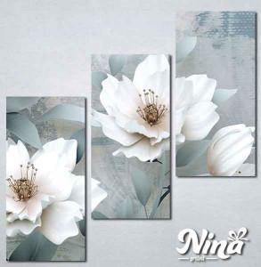 Slike na platnu Beli cvet Nina262_3