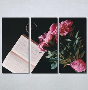 Slike na platnu Buket cveća i knjiga Nina30243_3