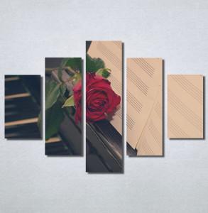 Slike na platnu Crvena ruža i klavir Nina30228_5