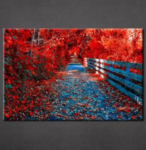 Slike na platnu Crveno lišće Nina3082_P