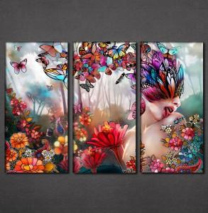 Slike na platnu Cveće i leptiri Nina3092_3