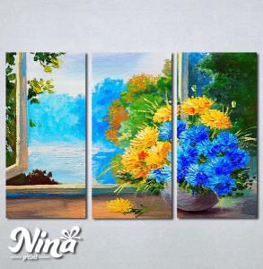 Slike na platnu Cveće na prozoru Nina256_3