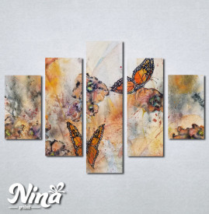 Slike na platnu Cvet i leptiri Nina244_5