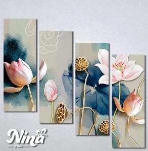 Slike na platnu Cvetna bajka Nina331_4