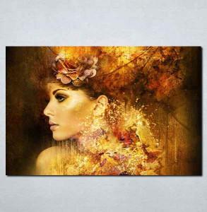 Slike na platnu Devojka apstraktno Nina084_P