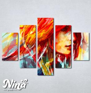 Slike na platnu Devojka boje art Nina253_5
