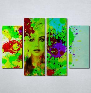 Slike na platnu Devojka u bojama Nina076_4