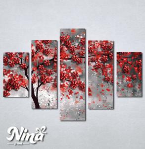 Slike na platnu Drvo crveno lišće Nina296_5