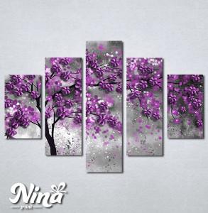 Slike na platnu Drvo ljubicastolišće Nina297_5