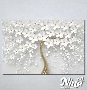 Slike na platnu Drvo sa belim cvetom Nina302_P