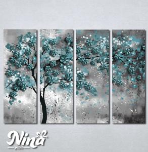 Slike na platnu Drvo tirkizno lišće Nina298_4