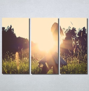 Slike na platnu Girl and sunset Nina30169_3