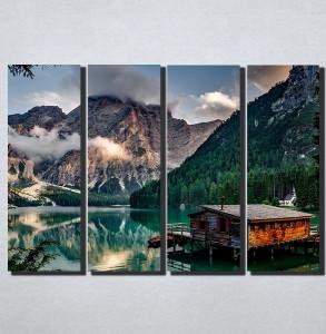 Slike na platnu Kucica na jezeru Nina174_4