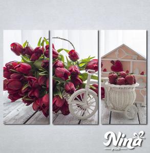 Slike na platnu Lale i jagode Nina307_3