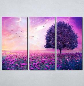 Slike na platnu Ljubičasto drvo i cveće Nina031_3