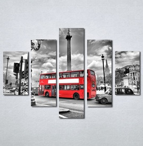 Slike na platnu London crveni autobus Nina136_5