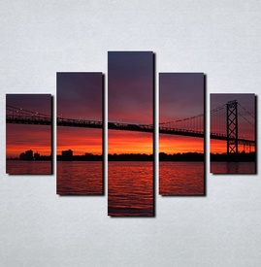 Slike na platnu Most noću Nina117_5