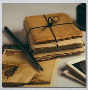 Slike na platnu Naliv pero i pisma Nina30278
