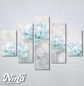 Slike na platnu Nežno plavi cvet Nina258_5