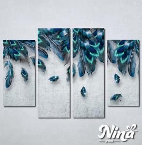 Slike na platnu Plavo perje Nina338_4