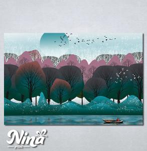 Slike na platnu Priroda apstrakcija Nina292_P