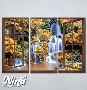 Slike na platnu Prozor ka vodopadu Nina278_3