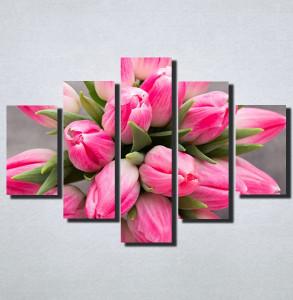 Slike na platnu Roze Tulipani Nina159_5