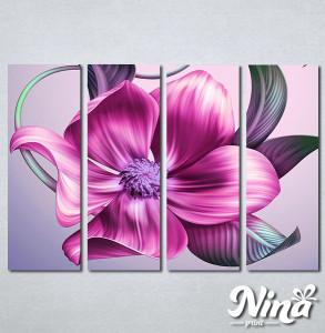 Slike na platnu Veliki roze cvet Nina270_4